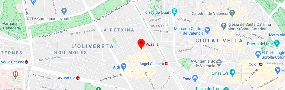 Escuela de Voz Valencia VOZALIA Mapa